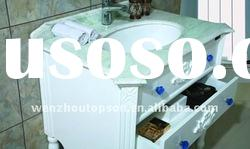 Simple bath cabinet with glass vanity top,new design style PVC bathroom towel cabinet