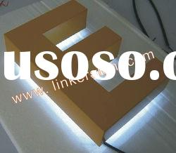 Stainless steel led backlight channel letter sign with painted