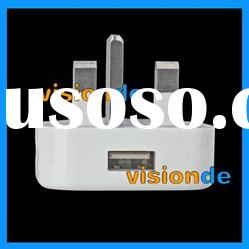 UK Travel charger with USB port