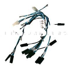 Wire assembly cable harness wiring power cords