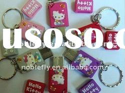 beautiful rubber oem hello kitty usb flash drive
