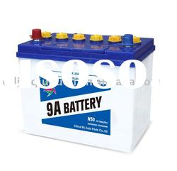 dry charged car battery 12v 50ah