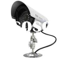 dummy outdoor wireless cctv security alloy camera with led flashing