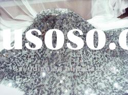 fashion sequin/sequins/spangle paillette embroidery mesh stage/evening dress fabric