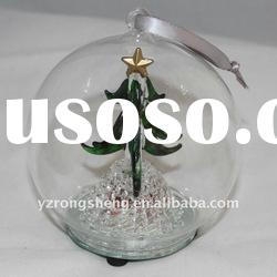 glass led christmas tree deocration