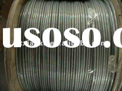 pvc coated galvanized steel wire rope 7x19