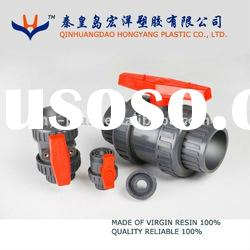 pvc double union ball valve dn100