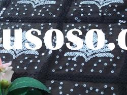 sequin/spangle embroidery mesh fabric
