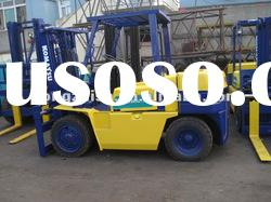 used diesel forklift of KOMATSU 5tons lifting weight of japan origin