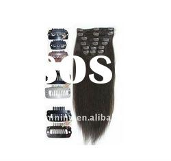 100% Indian Remy hair Hair GradeA++ full head Clip-in Hair Extensions