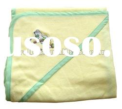 100% cotton fabric embroidered mouse baby hooded towel