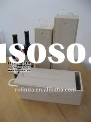 1 Bottle Wooden Wine Box with Lift Lid