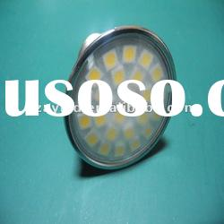 2012Newest !!! super bright Plastic Cover GU10 5050 smd led spotlight with good price (CE&ROHS)
