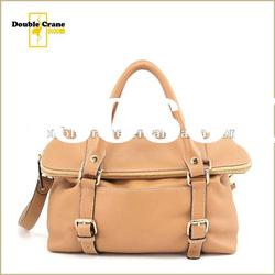 2012 New Arrival Ladies fashion foldable leather shoulder bag