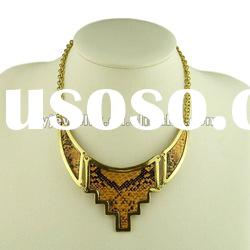 2012 new fashion alloy pendant snake skin necklace jewelry