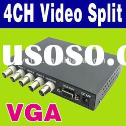 4CH Color Audio Video quad Splitter Processor O-617