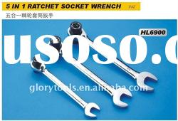 5 In 1 Ratchet Socket Wrench