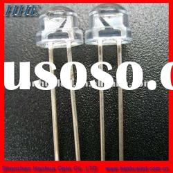 5mm straw hat red led diode water clear