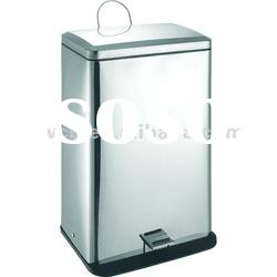 60 Liter Stainless Steel Three Lattice Recycle Pedal Bin