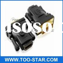Black DVI Male to HDMI Female Connector