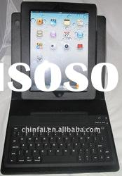 Bluetooth keyboard with rotated PU leather case for IPad , Ipad 2