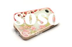 Brand new! high quality cute flower case for iphone 4