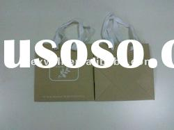 Brown kraft paper bag with cotton handle