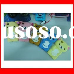 Colorful rilakkuma cover for Iphone 4/4S silicone case accessories