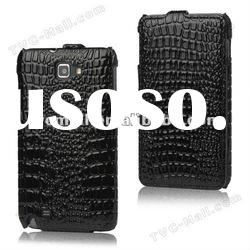 Crocodile Leather Flip Case Cover for Samsung Galaxy Note I9220 GT-N7000