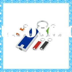DKMK1288 promotion gift colorful plastic LED key chain