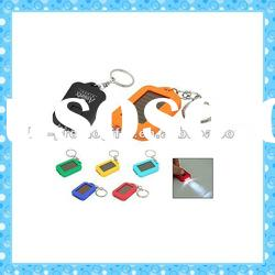 DKMK1289 promotion gift colorful plastic LED key chain