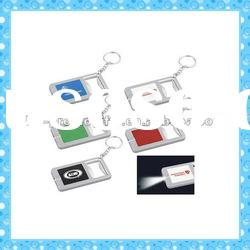 DKMK1290 promotion gift colorful plastic bottle opener LED key chain