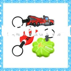 DKMK1291 promotion gift colorful plastic different shapes LED key chain
