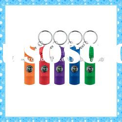 DKMK1293 promotion gift colorful plastic whistle compass LED key chain