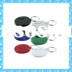 DKMK1295 promotion gift colorful round plastic whistle LED key chain