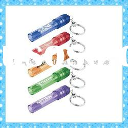 DKMK1296 promotion gift colorful plastic whistle LED key chain