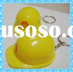 DKMK1300 promotion gift colorful plastic hard hat LED key chain