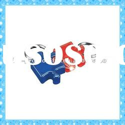 DKMK1302 promotion gift colorful plastic puzzle piece LED key chain