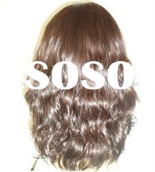 End Done Curly Hair Indian Hair Full Lace Wig