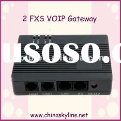 FXS VOIP Gateway with 2 fxs port support ATA ,SIP&H.232&T38