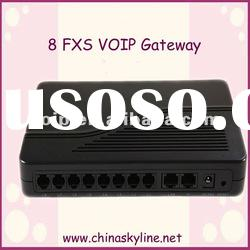 FXS Voip gateway with 8 fxs port, support ATA, SIP and H.232