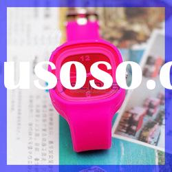 Fashion Jelly candy rose color sport Silicone watch