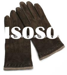 Fashion finger gloves men's suede leather gloves