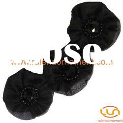 Fashion garment accessories chiffon flower beaded collar