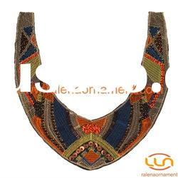 Fashion garment accessories nonwovens beaded collar