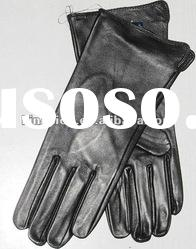 Fashion men's sheepskin leather gloves with short cuff