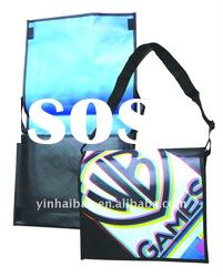 Fashion non woven shoulder bag with metal lamination