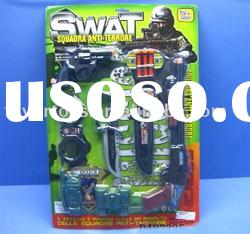 Featured goods police set toy military gun