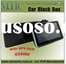 GS6000 5.0 inch touch screen Car Security DVR Camera with GPS