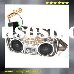 Gift mobile phone speaker with hand bag for gadgets
